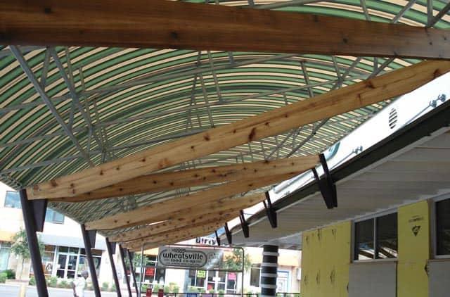 Wheatsville Co-op outside canopy